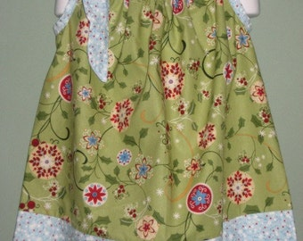 Green and Blue pillowcase dress in Green. Last one, size 3
