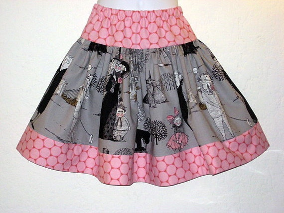 Grey Ghastlies Twirl Skirt, Sizes 6M up to 10 Years
