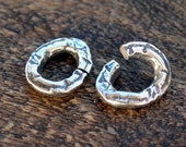 Jump Ring Link TWO Artisan Sale Sterling Silver 002/OR110