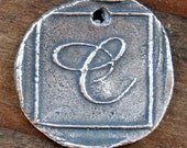 Initial Sterling Silver Charm Letters  /CH30