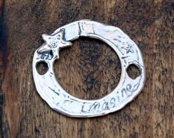 Link artisan Sterling Silver Imagine Large Focal