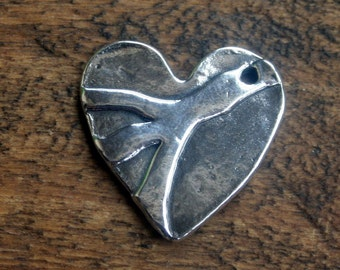 Sale Heart Full of Peace Charm Sterling Silver