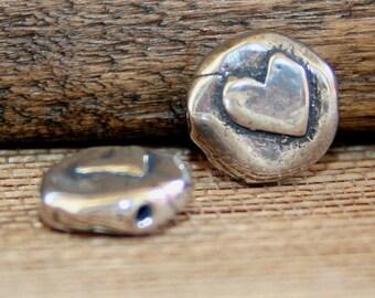 ONE Round Heart Bead /B104