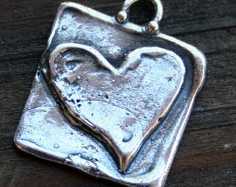 Charm Heart Artisan made /CH25