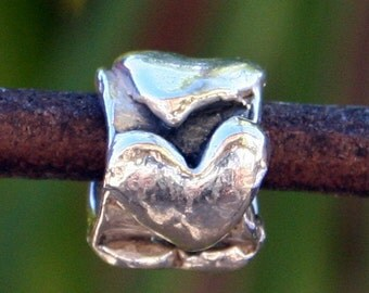 Slide Heart Artisan Handcrafted Sterling Silver /34013