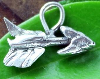 Charm Arrow Organic Artisan Sterling silver CH32