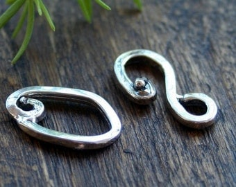 Clasp Hook and Eye Sterling Silver 001/H100