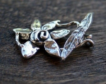 Flower Toggle Sterling Silver