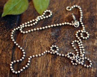 """24"""" Oxidized Ball Chain Necklace"""