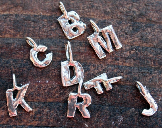 Little Sterling Silver Charm Letters B