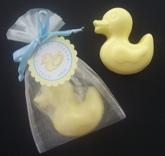 Homemade Baby Shower Favors For A Girl: Items Similar To Ducky Soap Baby Shower Favors In Organza