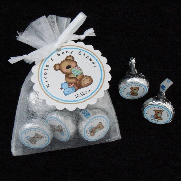 Baby Shower Favors Hershey Kisses ~ Personalized hershey kiss baby shower favor kit white by