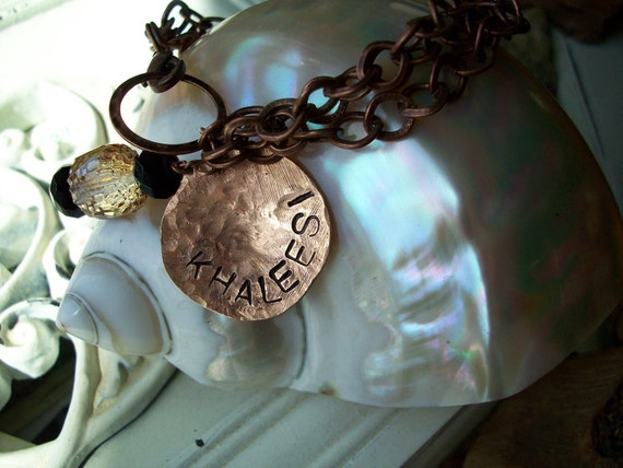 Copper Bracelet Hand Hammered jewelry CHOOSE your WORDs