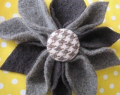 RESERVED FOR Chelsea Be Bold...HUGE upcycled felted wool flower pin