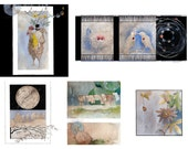 Thinking of You Mix-And-Match Greeting Card Set with Envelopes - Rooster - Watercolor Cards - FREE SHIPPING