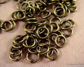 250 Antique Bronze Jump Rings 4mm Iron 20 Gauge NF 4mm Outside - 250 pc - F4003JR-AB4mm250