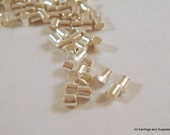 400 Silver Crimp Beads Plated Brass 2x1mm Economy Grade - 4 grams - F4021CB-S400 - Select Qty