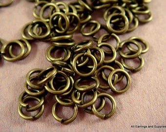 250 Antique Bronze Jump Rings 4mm Open 20 Gauge NF 4mm Outside - 250 pc - F4003JR-AB4mm250