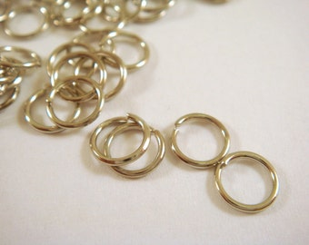 100 Nickel Jump Ring 4mm 20 Gauge Plated Jumprings 4mm Outside - 100 pc - F4003JR-N4mm100
