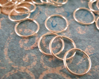 100 - 10mm Silver Jump Rings Plated Open 18 Gauge NF 10mm Outside - 100 pc - F4003JR-S10mm100