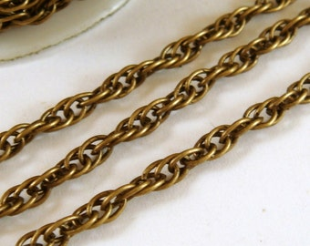 5ft Bronze Pretzel Chain 3mm Antique Bronze Plated Iron LF/NF Not Soldered - 5 ft - STR9021CH-AB5