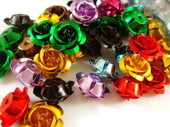 Assorted Aluminum Flowers 15mm 3x3 Bag .6 oz. - 3x3 Bag - M7015-ASSORTED-M - LAST ONE
