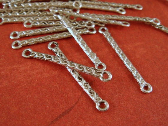 25 Bar Link Antique Silver Link Connector 21x2mm - 25 pc - F4052LK-AS25