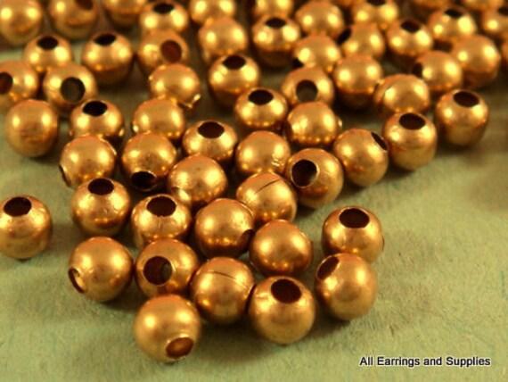 225 Unplated Brass Spacer Beads 3mm - 225 pc - M7013-UN225