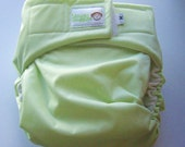 pistachio pocket cloth diaper MEDIUM