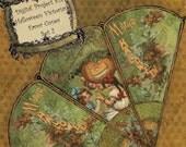 DIY Printable Halloween Victorian Favor Cone Kit Set 2 - Digital Download