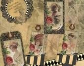 Instant Download Digital Printable Collage Sheet Gift Tag Set - Henry Hutt's Girls