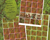 Digital Download Collage Sheet 2 x 2 size - Christmas, Colors of Christmas Red and Green Alphabet