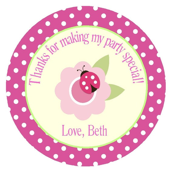 Items Similar To Ladybug Favor Tags Or Stickers/ Printable