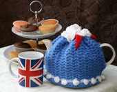 4-6 cup Red White and Blue Tea Cozy - Ready to Ship