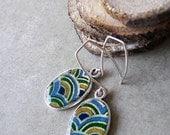 FREE SHIPPING Japanese Winter Garden earrings  in sterling silver