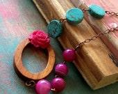 My rose garden  necklace