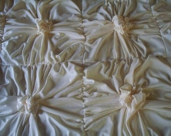 Vintage Inspired King Size Duvet cover made to order rosette bedding custom duvet cover