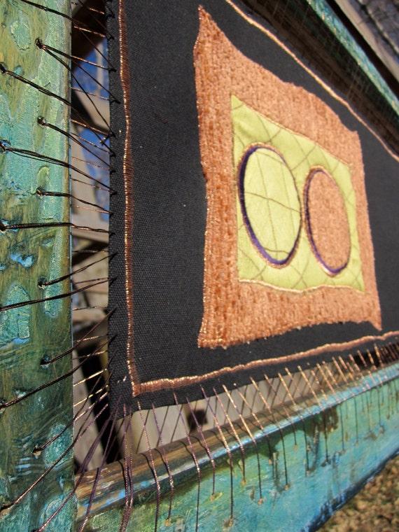 Fiber Art, Wall Art  - Golden Circle