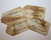 Bride Groom Wedding Party Seat Sign Tags Bridal Party Favor Tag