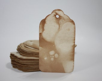 150 SMALL Tea Stained Price TAGS
