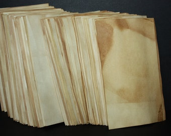 Tea Stained Paper 5x7 Card Stock weight