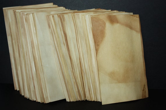 Sheets of Tea Stained Paper 4x6