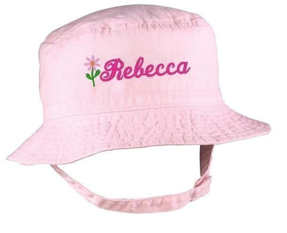 Personalized Baby Bucket Hat Infant Sun Cap Embroidered