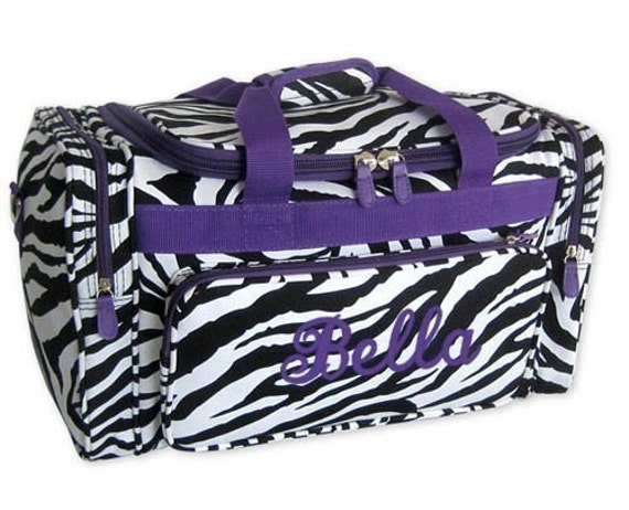 Personalized Duffle Bag Zebra Purple Dance Ballet Gym Travel Luggage ...