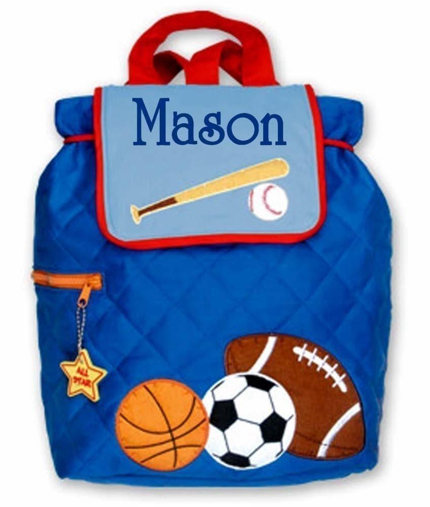 personalized preschool backpacks kids children backpack personalized sports stephen joseph toddler 352