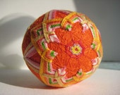 Orange Deelish Temari Ball