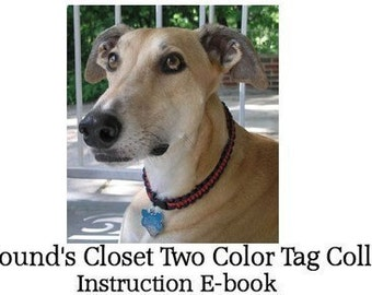 HoundsCloset's  Knotted Two Color Tag Collar Instructions - ebook