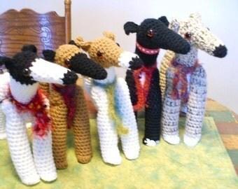 AerieDesigns PIXIE HOUNDS Greyhound Dog Dolls to Crochet PDF Pattern