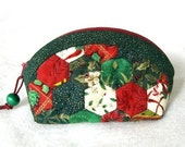 Mini Mini Jewelry Purse-Green Christmas Hexagons