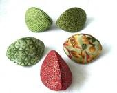 BUY 4 GET 1 FREE - Three-Sided Fabric Jewelry Box (Kai no Kuchi) (Set of 5) - Green Family